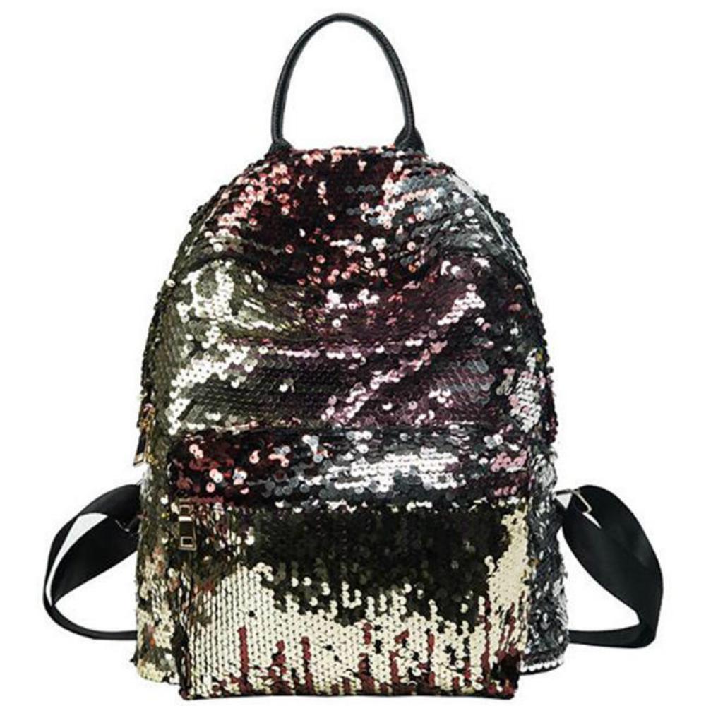 4e28bb019135 Женщины с блестками рюкзак досуг Bookbags кожа случайные ранцы для ...