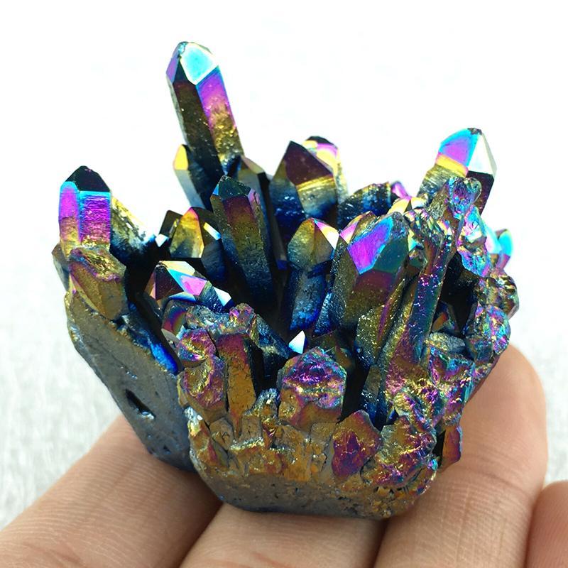 Multicolore Crystal Rainbow Titanium Rainbow Cluster Mineral Specimen Healing