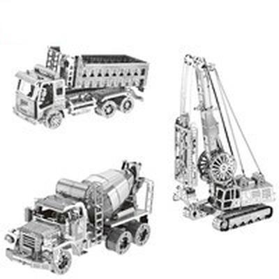 6512a704771 Misturador de cimento diafragma garra Self Dumping caminhão montar modelo  Kit DIY Laser 3D Puzzle corte