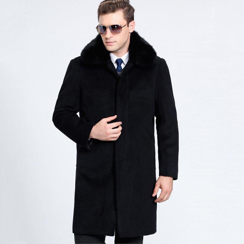 Hommes pleine Parka hiver de manteaux manteau fourrure fourrure avec manteaux fausse homme longueur fourrure col manteau manteaux dsxtQrCh