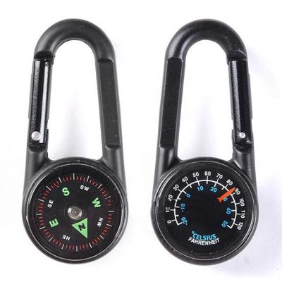 MagiDeal Portable Odometer Compass Key Chain Ring Hiking Map Range Finder