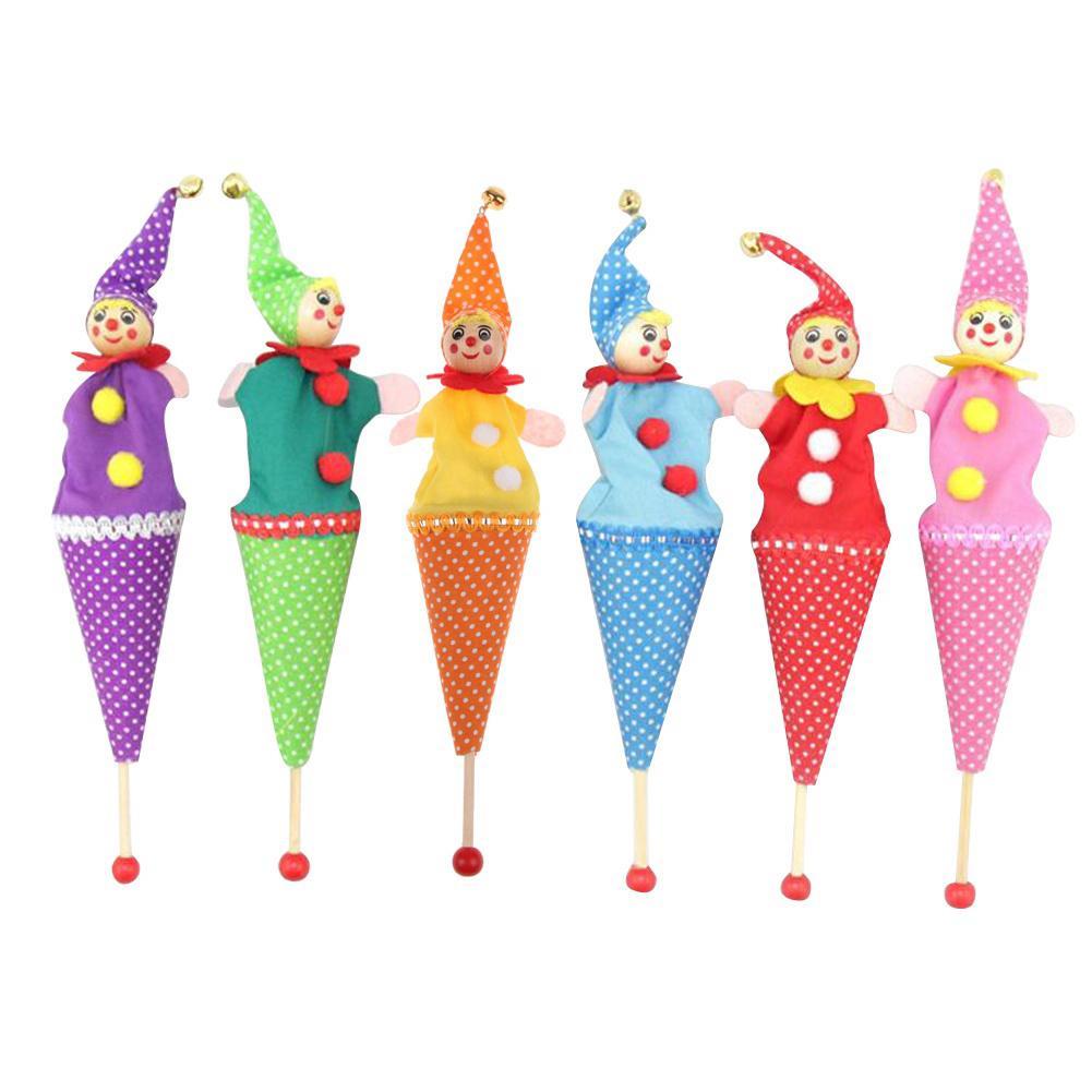 Выдвижной Улыбающийся клоун скрыть & искать играть Jingle Bell ребенка дети смешные Toy(random color) фото