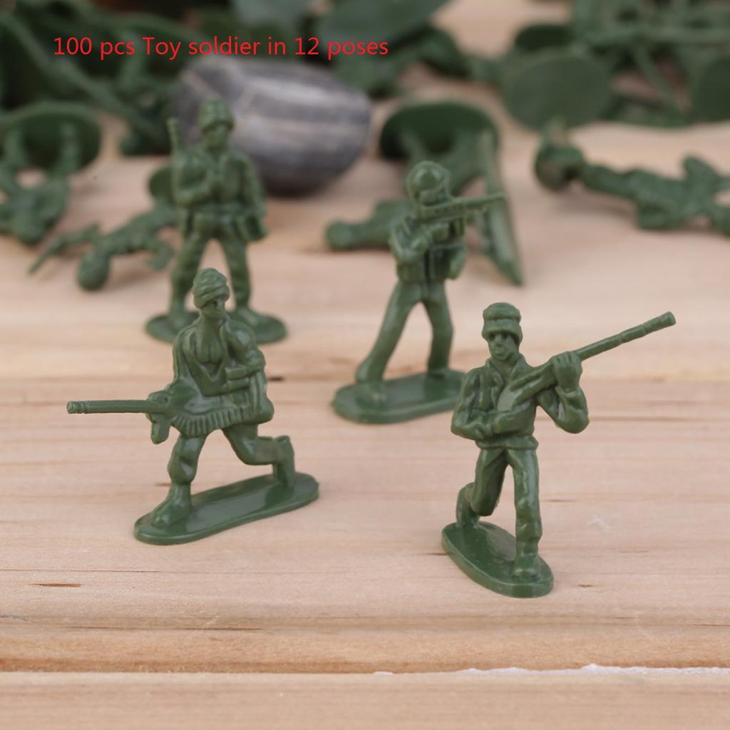307pcs 4 cm Soldatenfiguren Armee Figuren Militär Spielset Für Sand Szene