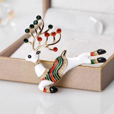 горячие продажи рождество броши булавки оленей моды зимний креатив женщин бижутерия