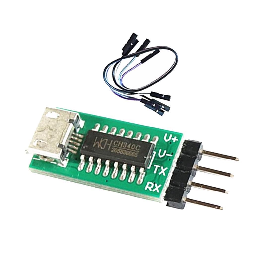 CH340C USB Transfer TTL Serial Port ISP Download Module 3.3V 5V DuPont line