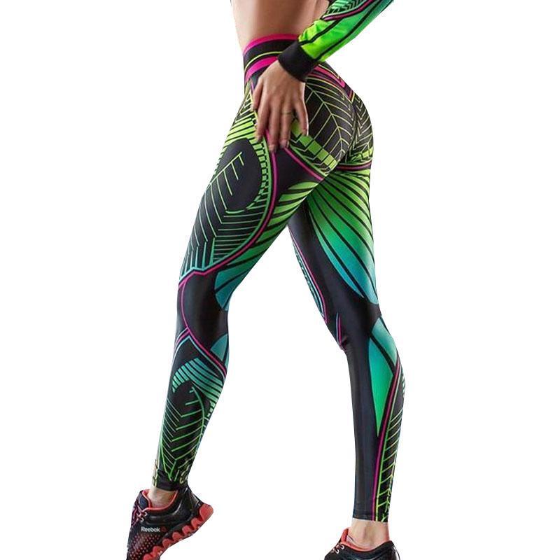 Women Printing Leggings Workout Leggings High Waist Push Up Leggins Fitness Pant