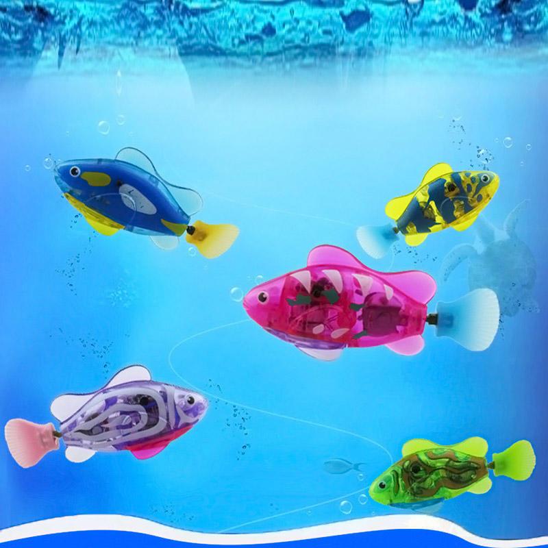 Робототехнические активирован Childen батарея рыбы Pet питание Робо электронных мир детей фото