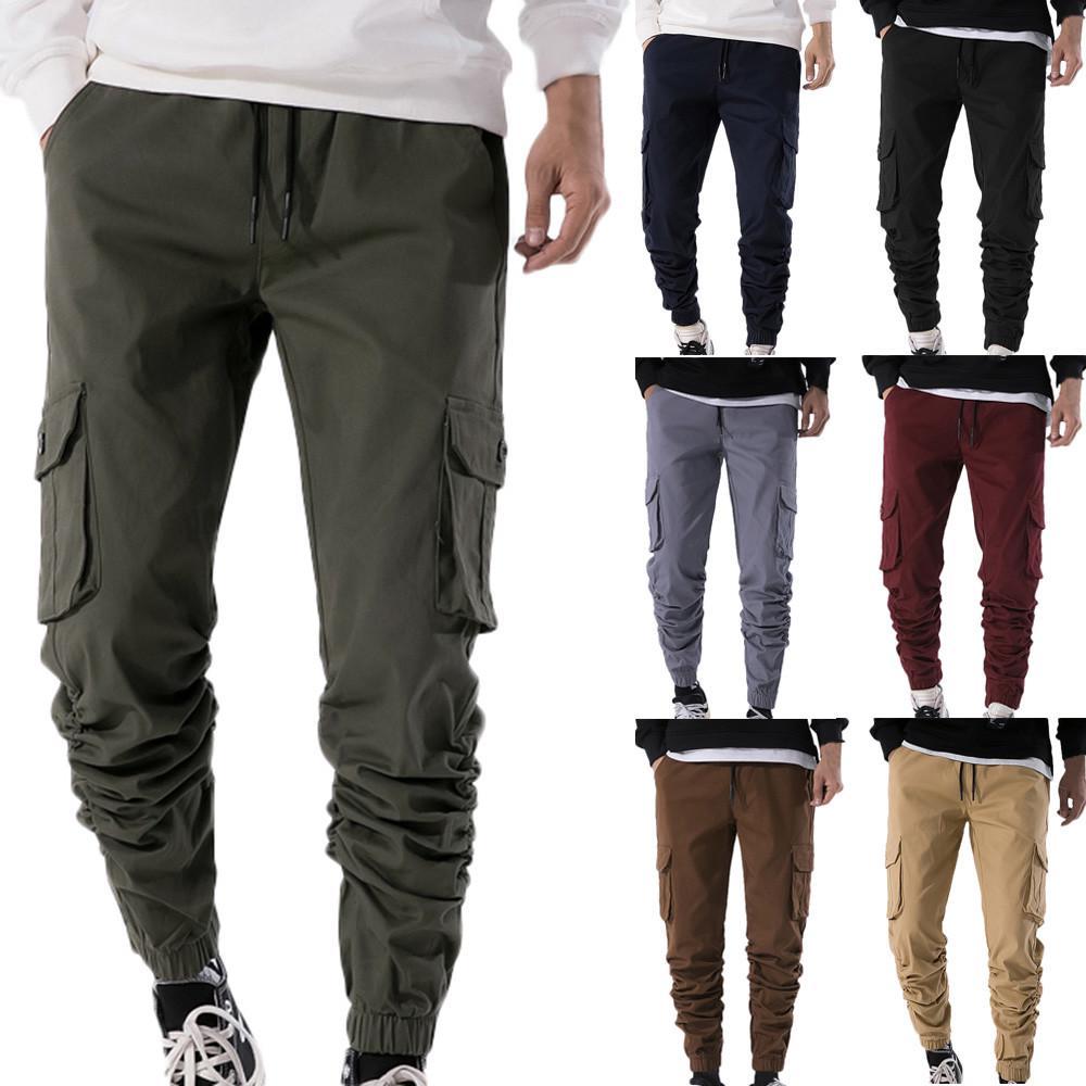 MENS FAHION CARGO COMBAT  TROUSERS PANTS WORK CASUAL Long Trousers Winner