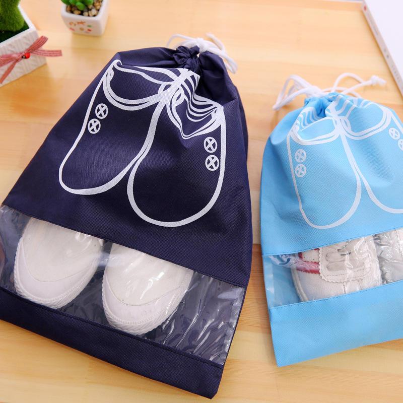 Водонепроницаемый портативный мешок со шнурком для хранения обуви и путешествий двух размеров фото