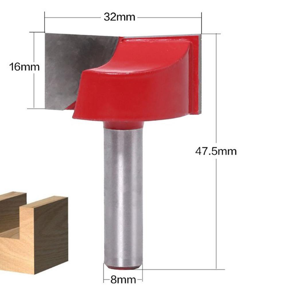 """8mm Shank 2-1//4/"""" Dia Bottom Cleaning Router Bit Woodworking Milling Cutter Tool"""