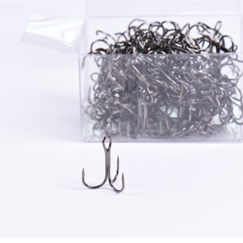 Fishing 100pcs Sharp Baits Hooks Fishing Jig Hooks High Carbon Steel 1#-6//0#