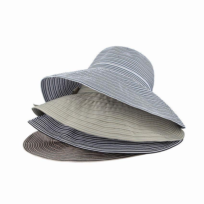 日系渔夫帽女生百搭撞色条纹盆帽休闲遮阳帽蝴蝶结小清新森女帽子
