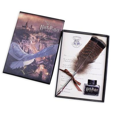 Harry Potter And The Cursed Child Vintage antique feather Quill Pen set gift