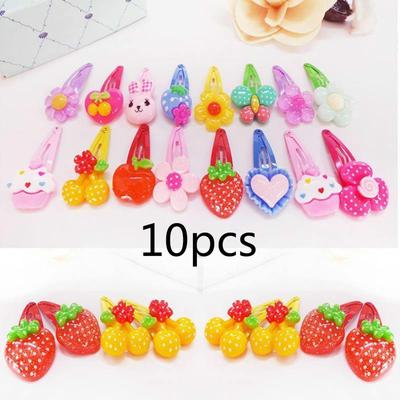 10x Colorful lovely cartoon fruit Child Hair Rubber Bands Kids hair ropes/_w