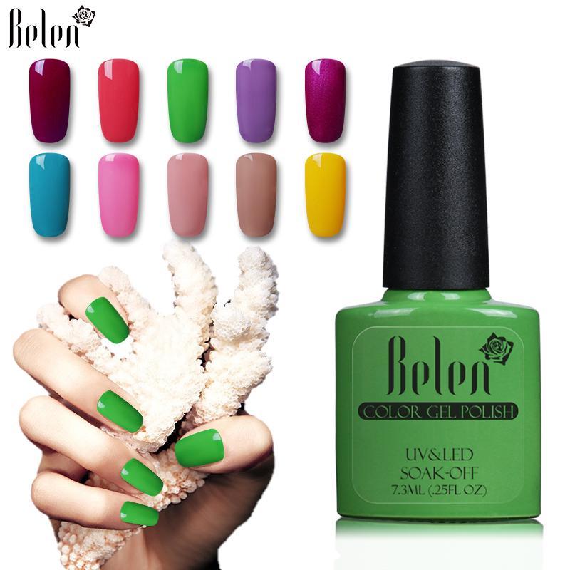 Belen Gel laca superior manicura uñas Soak Off Color Semi permanente ...