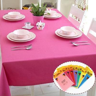 """Jetable Nappe plastique Banquet Table De Fête Housse 54/"""" X 72/"""" Couleur Pure"""