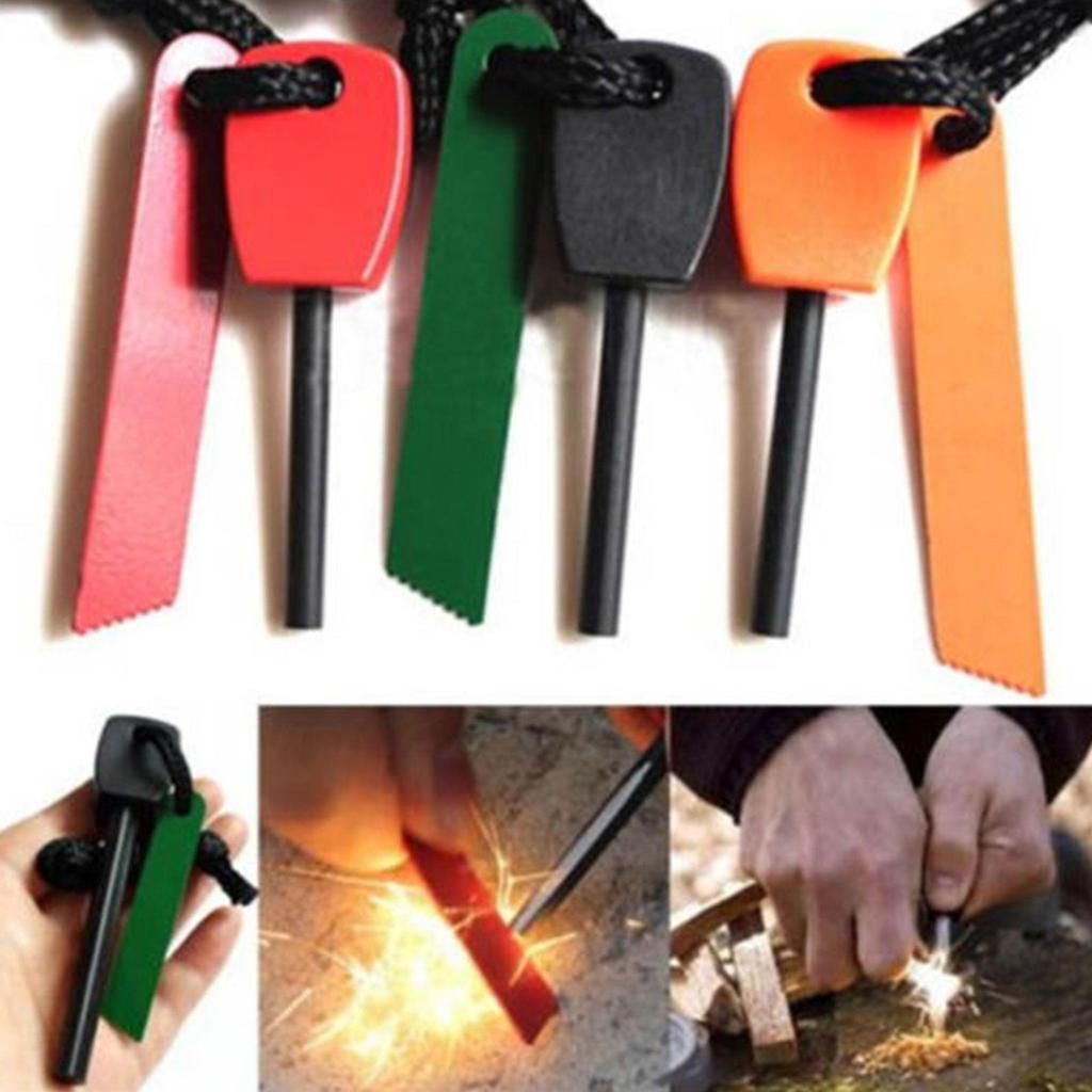survival Camping Emergency Gear Kit Magnesium Flint Stone Fire Starter Lighter #