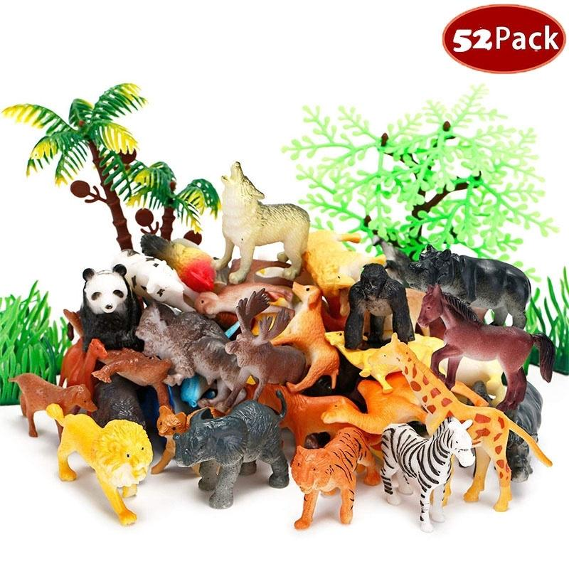 12pcs Plastic Farm Yard Figure Chicken Animals Kids Toys Party Bag Favour