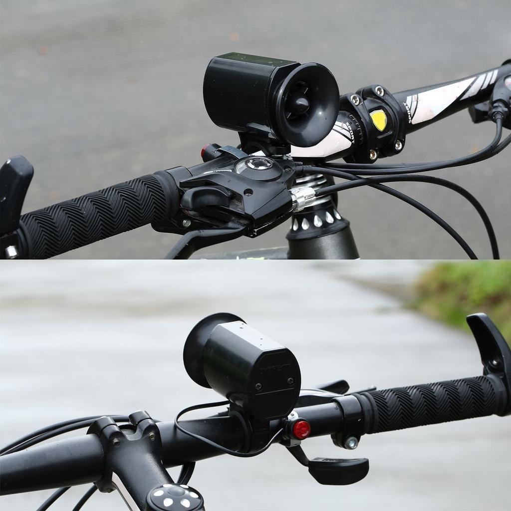 Isuper Bicicleta el/éctrica Cuerno 6 Suena Muy Ruidoso Alarma Manillar de la Bicicleta del Anillo de Bell del Cuerno de la Bici Altavoz Ultra-Alta