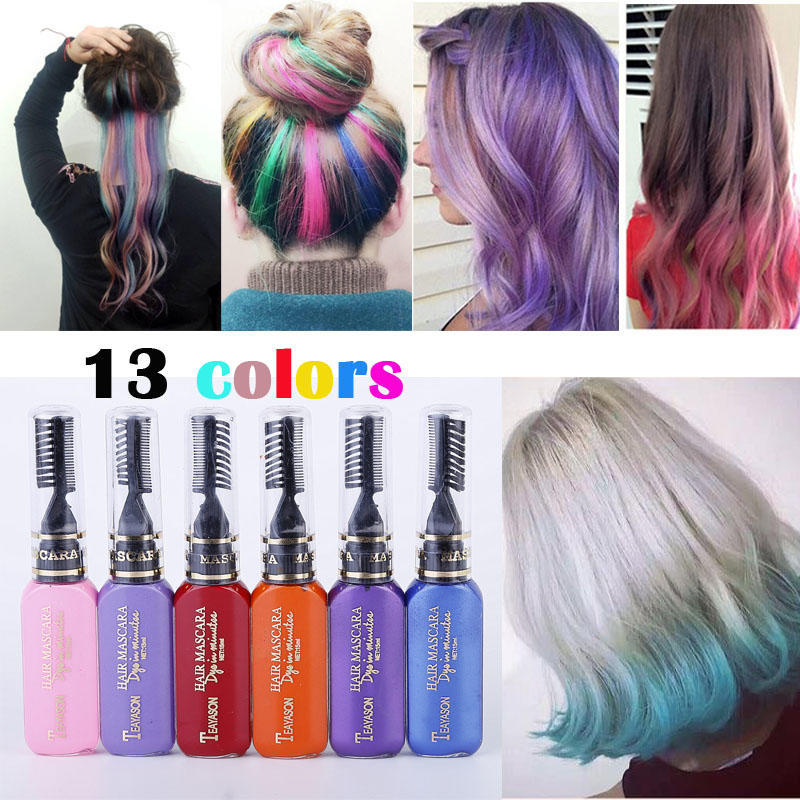 13 Colors One-time Hair Color Hair Dye Temporary Non-toxic DIY ...