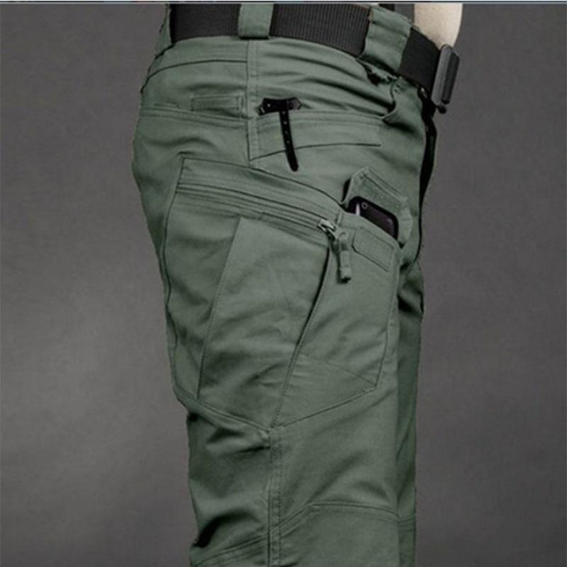 Mens Outdoor Straight Multi-pocket Pants Trousers Hiking Cotton Slacks Camping D