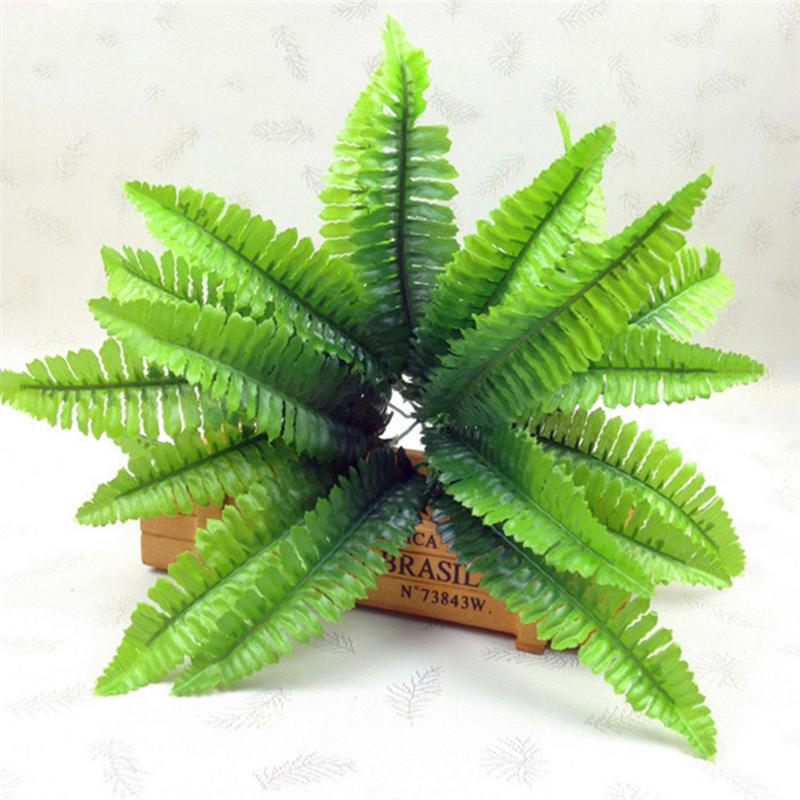 14 Leaves Persian 7 Fork Artificial Flower Fern Plants Wedding Office Home Decor