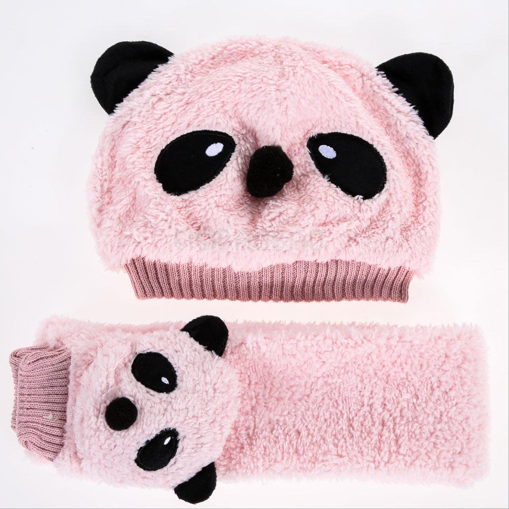 Toddler мальчиков теплый милые панды Hat Cap шапка шарф набор ... 6812ff00ad640