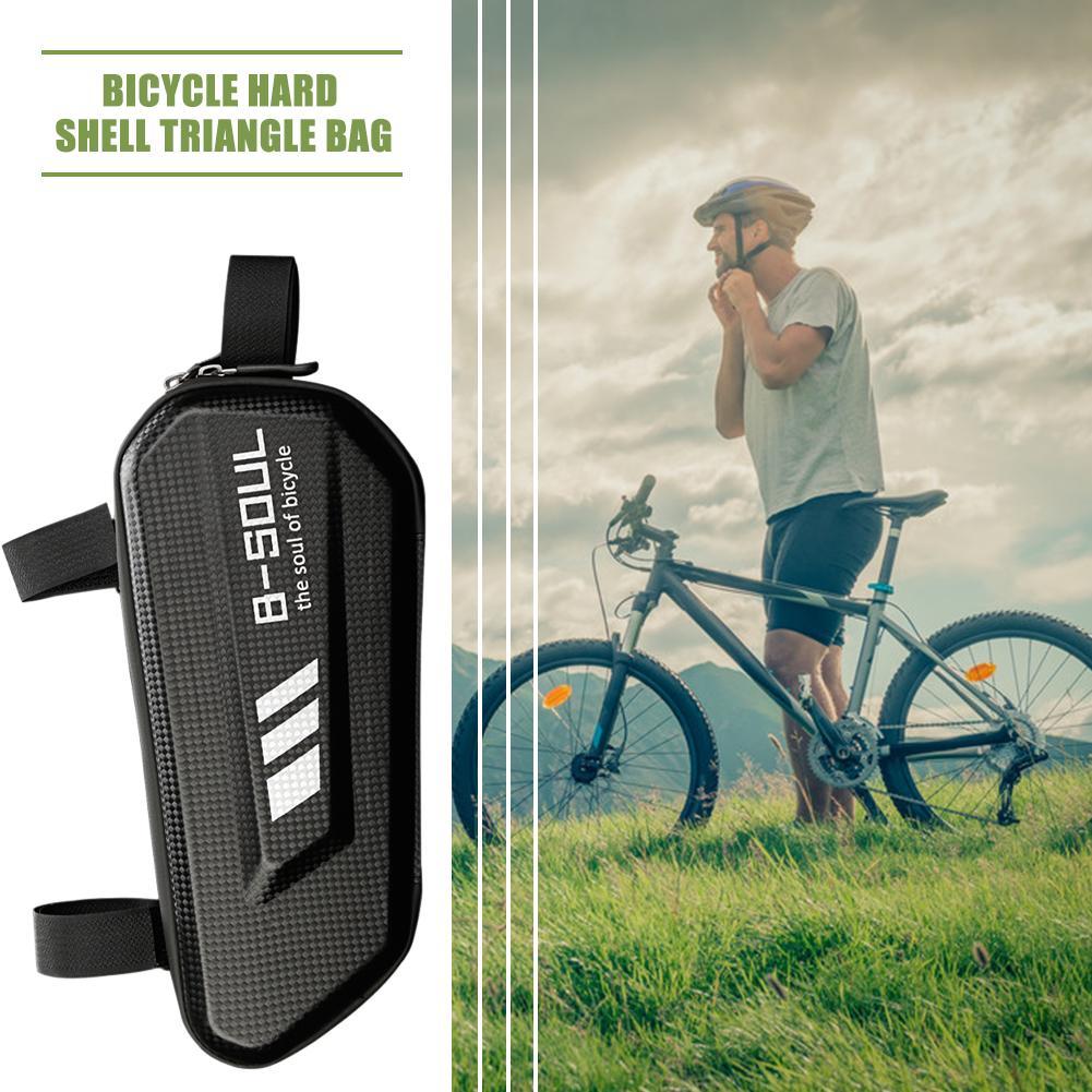 B-SOUL Bicycle Triangle Bag Waterproof Hard Shell Mountain Bike Top Bag