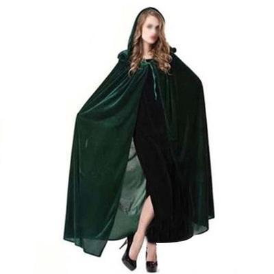 Brown Velvet Cloak w// Hood Cape LARP Star Wars Cosplay LOTR Theater Costumes