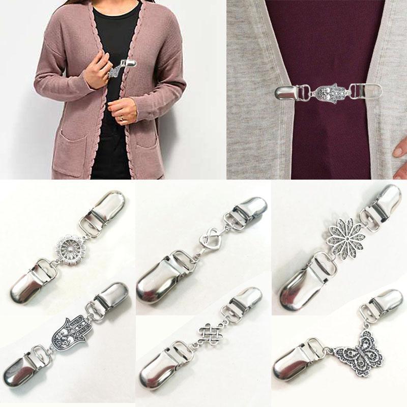 4Pcs Elegant Scarf Buckle Ring Clip Holder Women Ladies Jewelry Gift Fashion