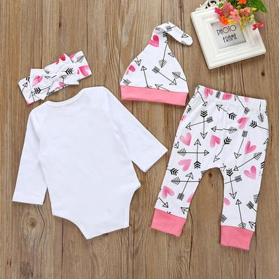 ae325289324 Daddy s Girl and Mommy s World 4PCS Outfits Infant Baby Girls Romper ...