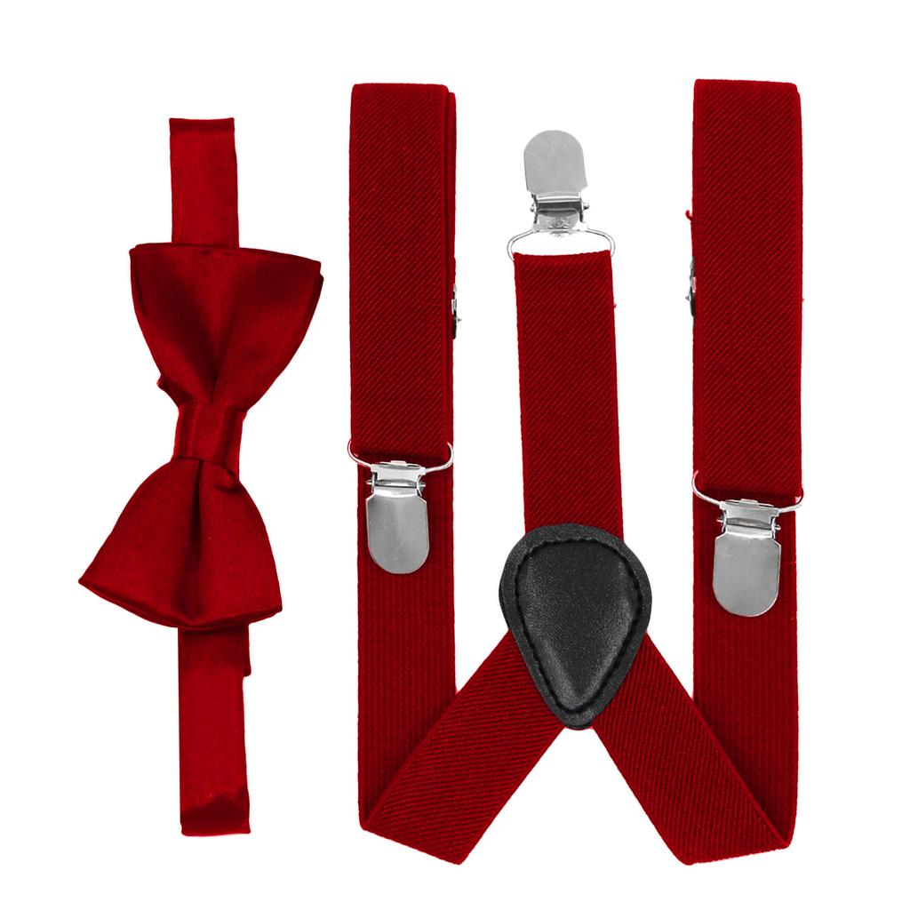 Unisex Kid Girl Boy Elastic Suspenders Bowtie Bow Tie Set Birthday Childrens Day Gift for 1-10 Year Old Kids Daily Wear Attending Wedding Party