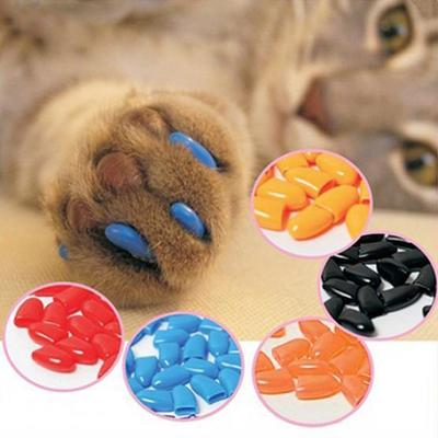 20Pcs Soft Pet Dog Cats Kitten Paw Claws Control Nail Caps Covers Pet Accessories