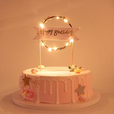 Fine Led Flower Ring Cake Toppers Bunting Flags For Happy Birthday Funny Birthday Cards Online Necthendildamsfinfo