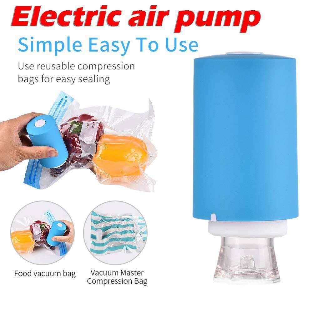 Mini Automatic Compression Vacuum Pump Portable Electric Air Pump 5 Vacuum Bags