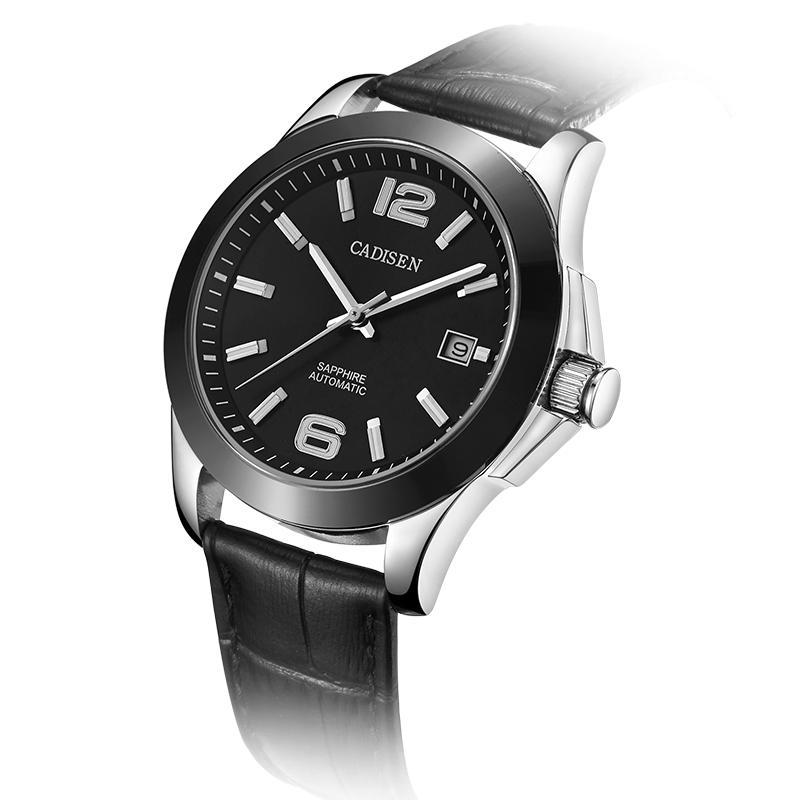 5e7fa3e13c27 Cadisen Watches Classic Men AUTO Date automatic Mechanical Watch ...