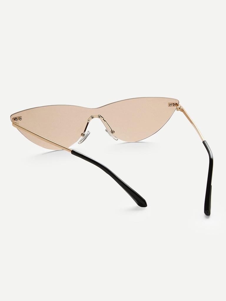 38c5d95b07 SHEIN Rimless Tinted Lens Sunglasses-buy at a low prices on Joom e ...