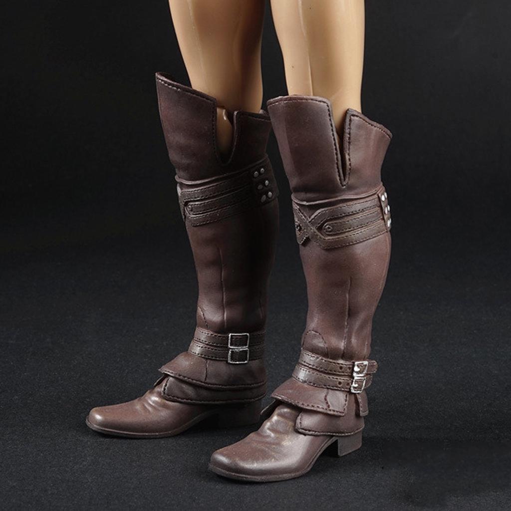 MagiDeal Juguetes de Zapatos Cuero 1/6 Escala Goma Hombres para Militar Figura 12 Pulgadas - #a N2SYT