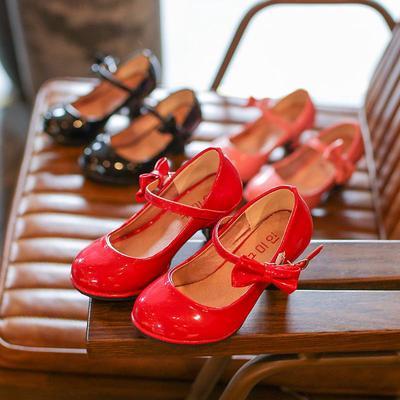 Fashion Casual Girls Shoes Flat Children's Pumps High Heel Princess Shoes