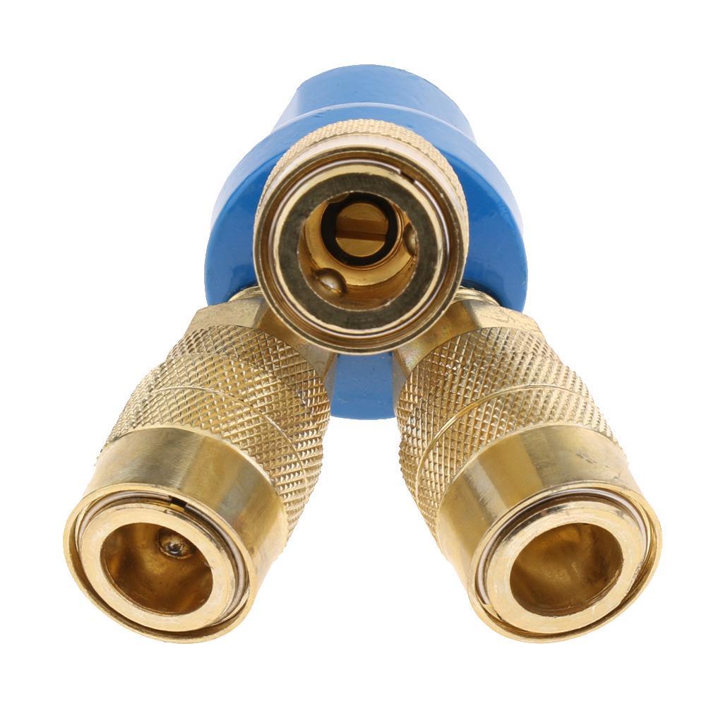 Colector de manguera de aire de 3 vías acoplador rápido conector adaptador o separador de montaje