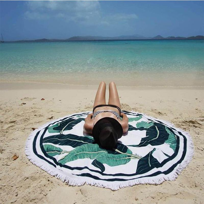 流苏超大圆形沙滩坐垫瑜伽垫