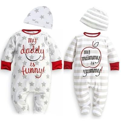 Baby Boy Girl Mum Dad Funny Newborn Infant Romper Hat Sleepsuit Outfits Set cf0627346b0