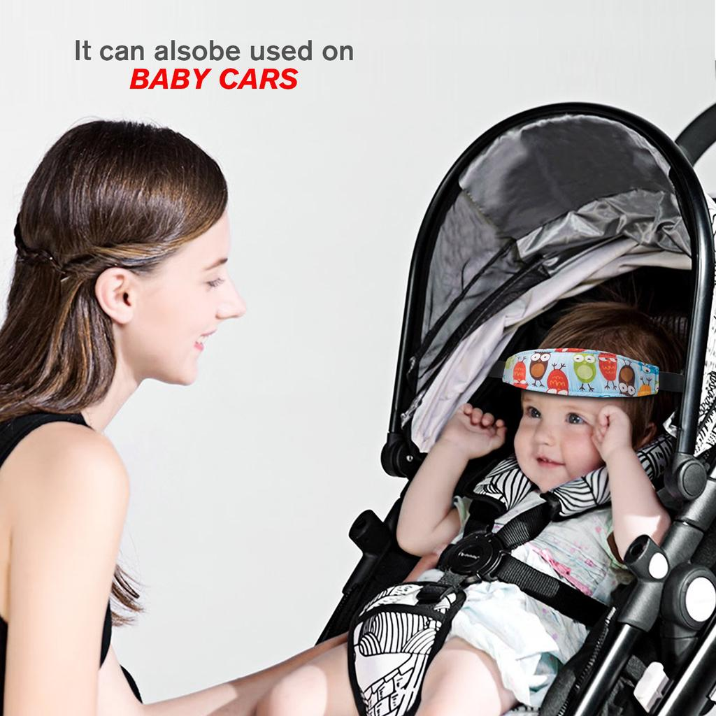 Safety Baby Kids Head Support Fasten Fixing Band Buggy Car Seat Belt Sleep Strap