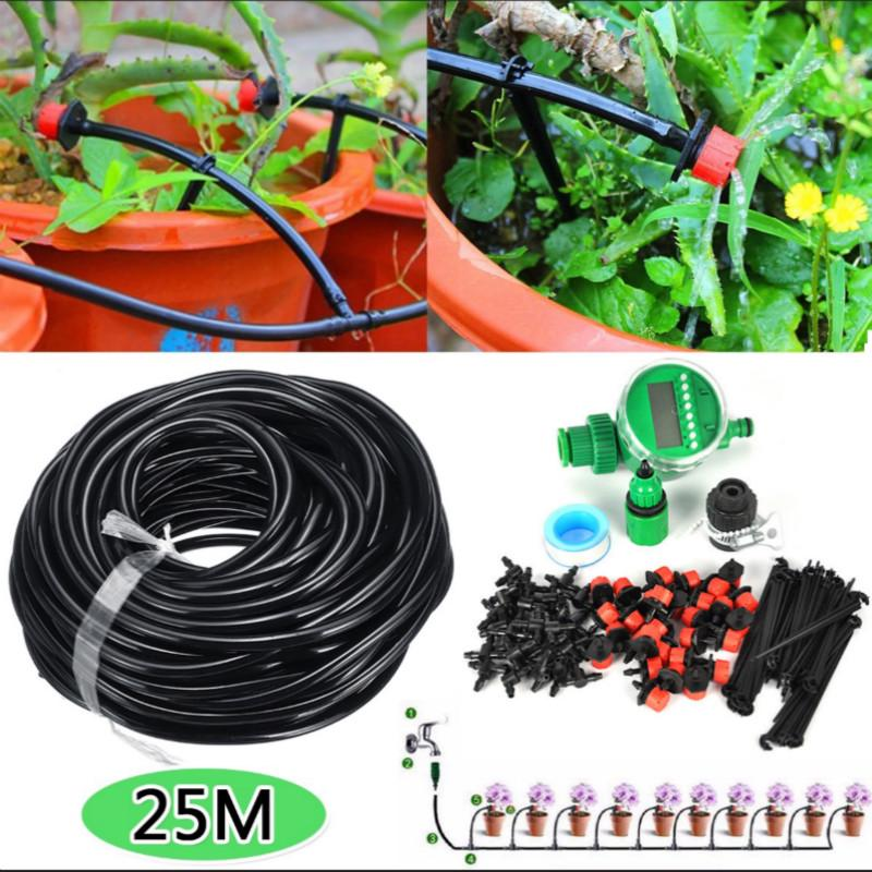 5-50M Automatic Irrigation System Drip Sprinklers Garden Plant Self Watering Kit