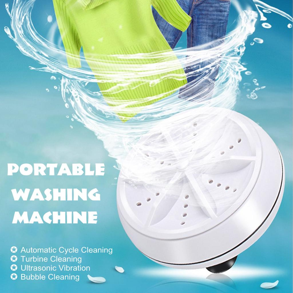 Mini Travel Portable Ultrasonic Turbo Washing Machine Personal Laundry Washer