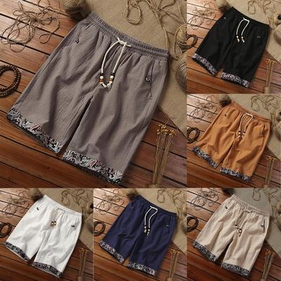 New Ladies Cotton Linen Shorts Pants Leisure Baggy Summer