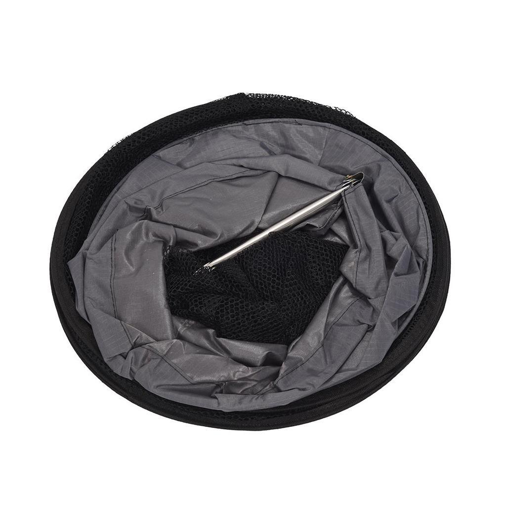 1.5 cuidado neta M mallas marco pesca Creel 5 capas plegable negro ...