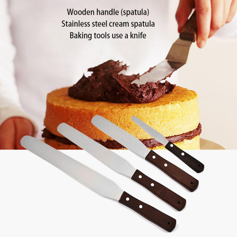 Fondant Tool Cream Bake Butter Spatula Cake Cutter Pastry Stainless Steel