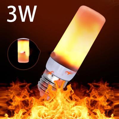 NEW FLICKER Fire Flame Candle Light Bulb Atmosphere Xmas Decor Lamp E27 E14