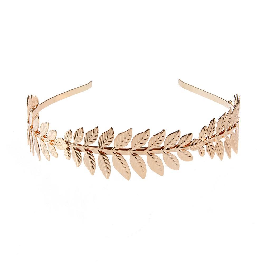 Hot Sell Elastisch Kette Schmuck Blume Stirnband Rhinestone Metall Haarband